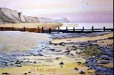 The Rod Jones Online Gallery - Cromer Groyn Watercolour